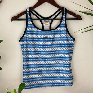 Adidas Striped Sleeveless Top